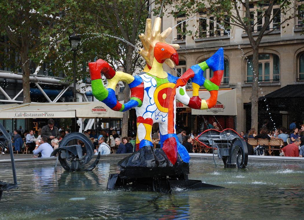 Jean tinguely niki de saint phalle la fontaine stravinsky paris pop ar - Fontaine beaubourg niki de saint phalle ...