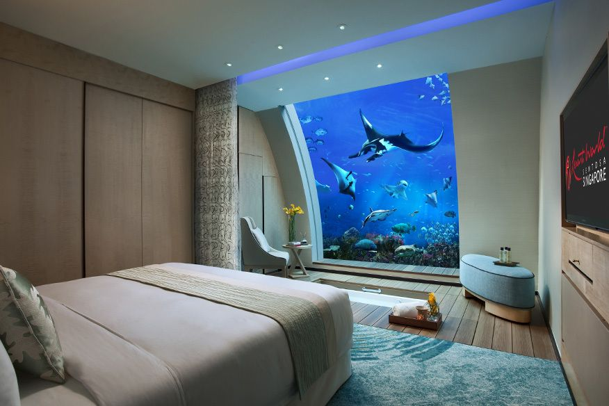 das grte aquarium der welt steht in singapur - Bett Mit Kopfteil Des Aquariums