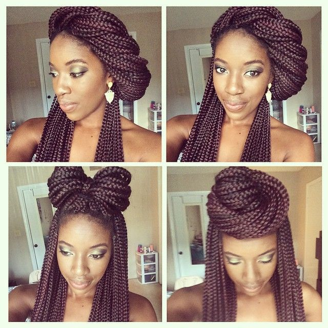13 Box Braid Updo Styles You Can Try After Your Next Install