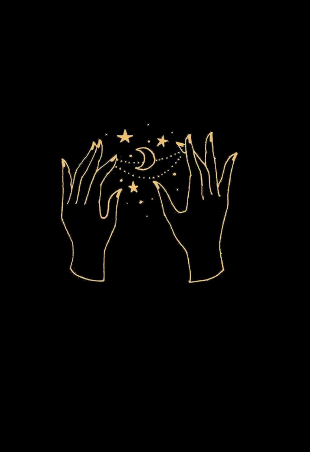 Aesthetic Clipart Hands 12 1024 X 1490 Aesthetic Drawing Magic Aesthetic Modern Magic