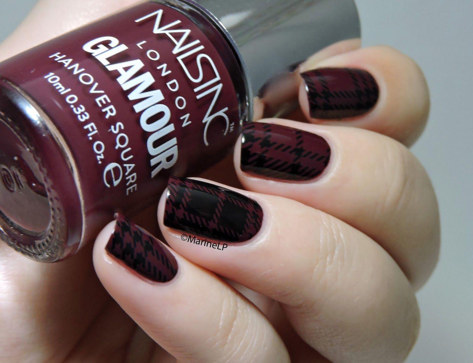 Nailstorming - Comme Mes Habits - plaid - tartan - plaid nails - nailart stamping - Nails Inc. Hanover Square