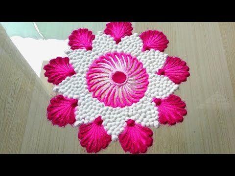 Easy rangoli design | Diwali special rangoli design | rangoli trick - YouTube #rangolidesignsdiwali Easy rangoli design | Diwali special rangoli design | rangoli trick - YouTube #rangolidesignsdiwali