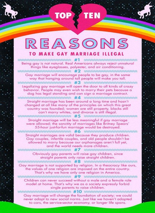 Reason why same sex marriage should be legal