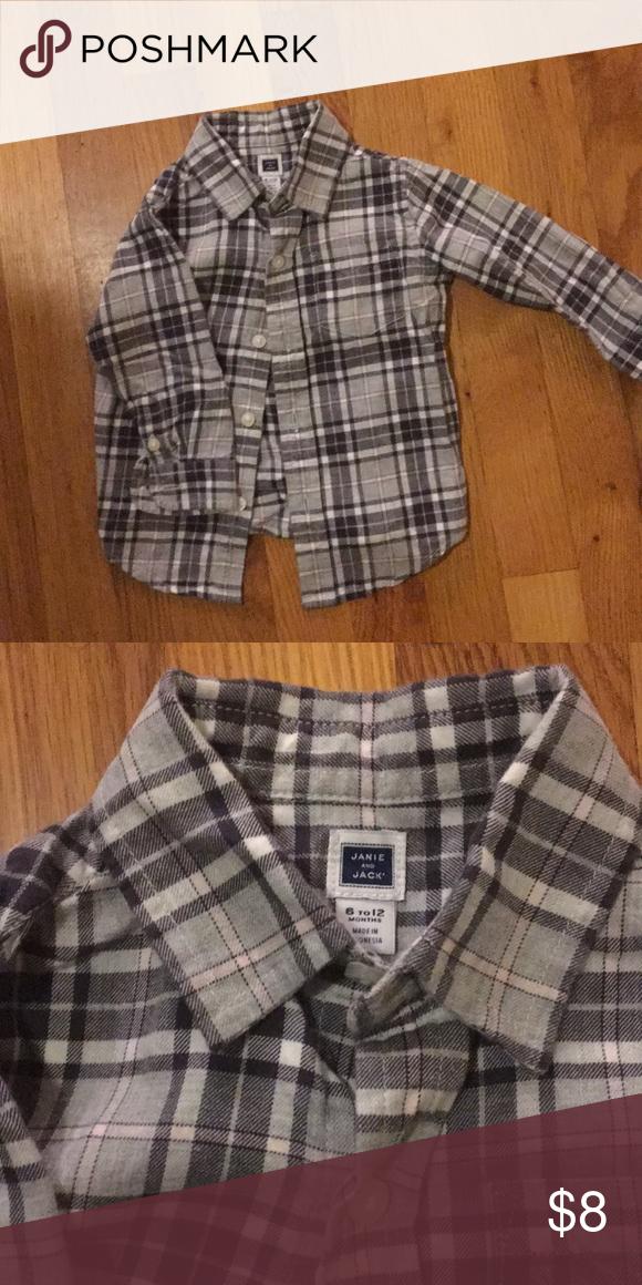 0b551bb37 Janie and jack baby boy shirt. 6-12 months. Classic, versátil baby shirt.  Janie and Jack Other