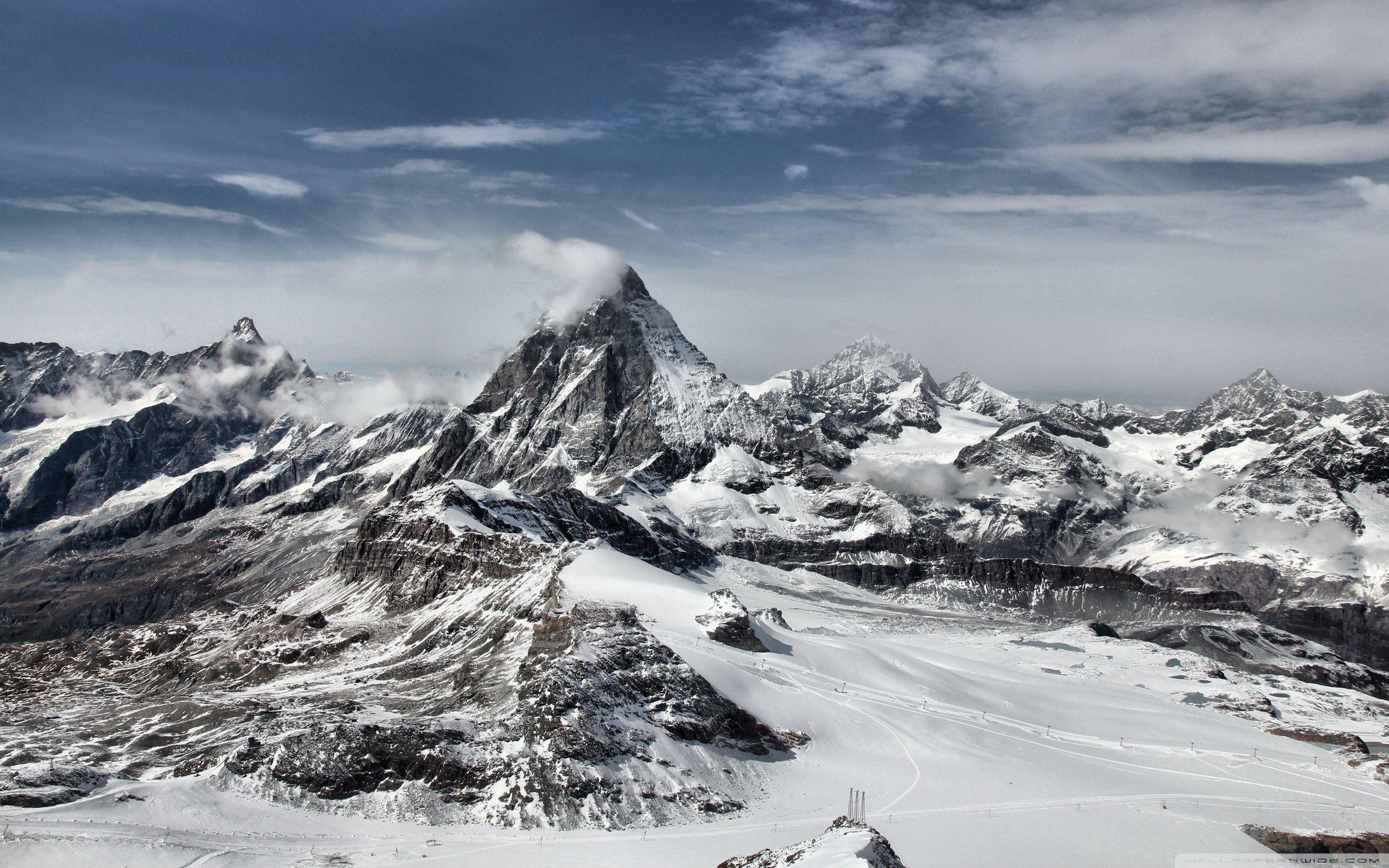 Snowy Mountains Hd Desktop Wallpaper High Definition