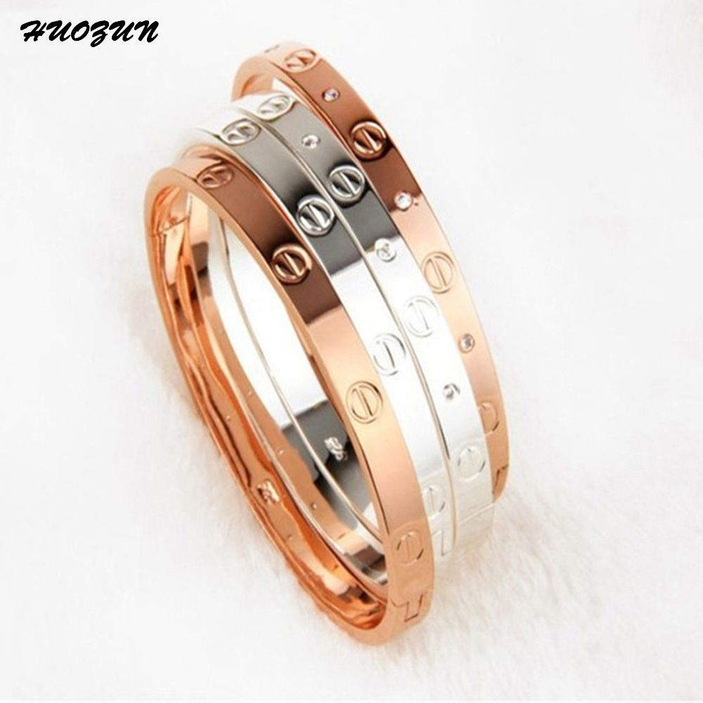 trendy rose gold silver bracelet for women bangle lover