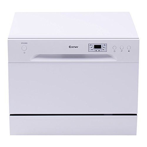 Costway Countertop Dishwasher Stainless Portable Countertop