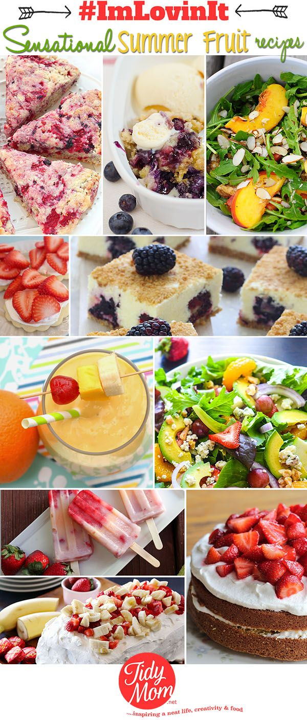 It's the time to kick back on your backyard swing and eat your daily recommended portion of fruit in all sorts of sensational summer fruit recipes!