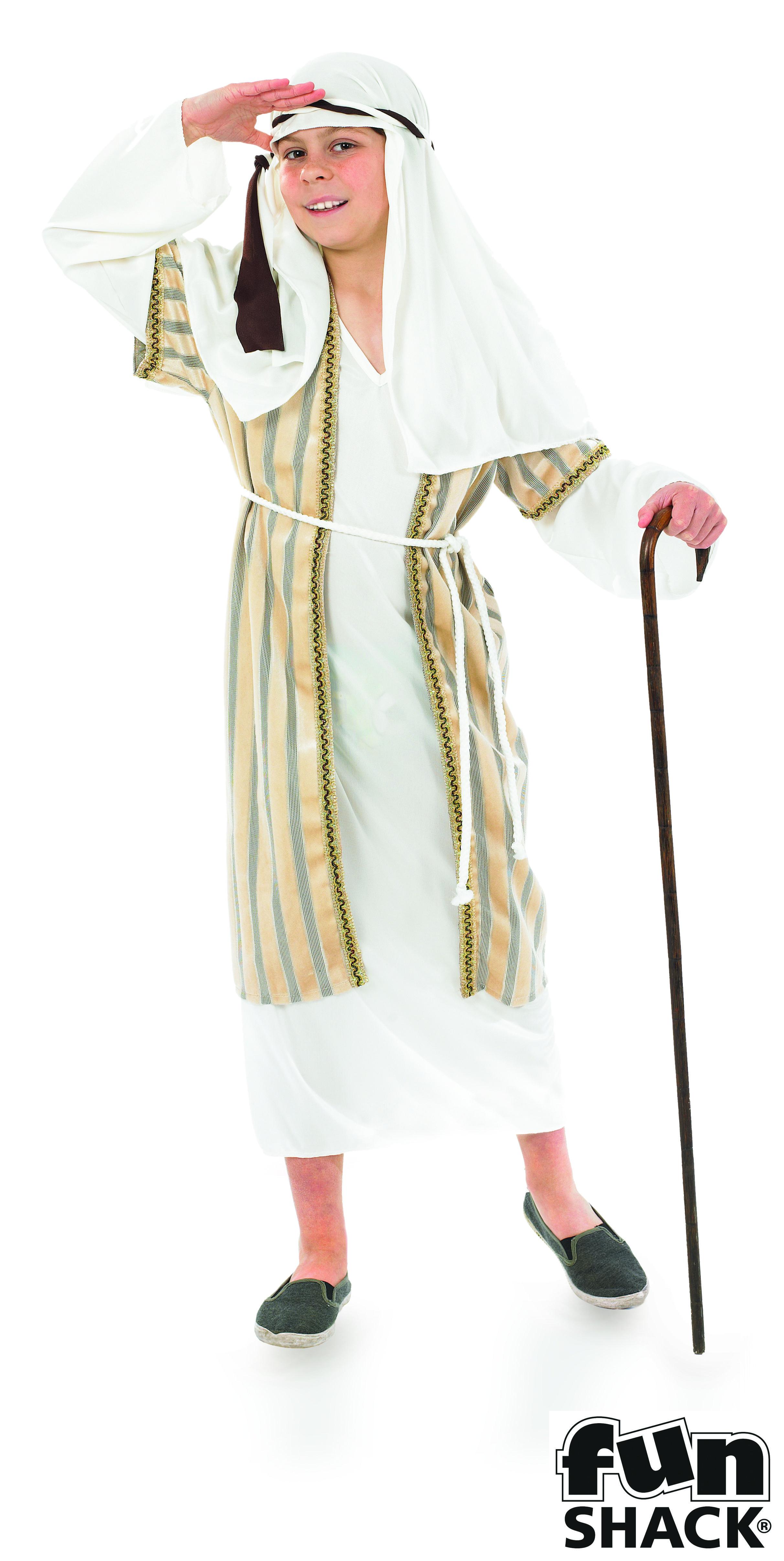 Crook Boys Fancy Dress Christmas Nativity Shepherd Kids Childs Costume Joseph