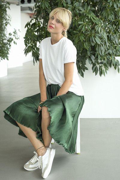 8b240df8 ZIELONA PLISOWANA SPÓDNICA - LeMat-Butik - Spódnice plisowane | Moda ...