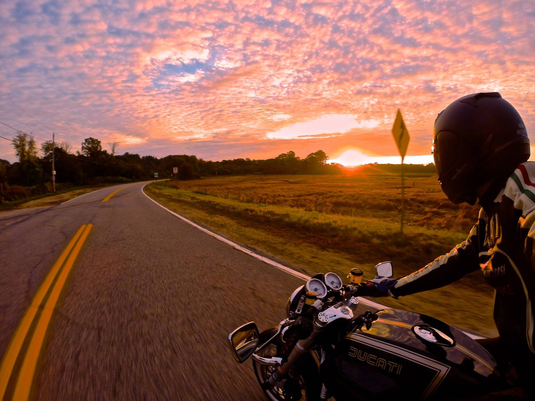 Gopro Athlete Tucker Perkins Catches The Sunrise On A Motorcycle