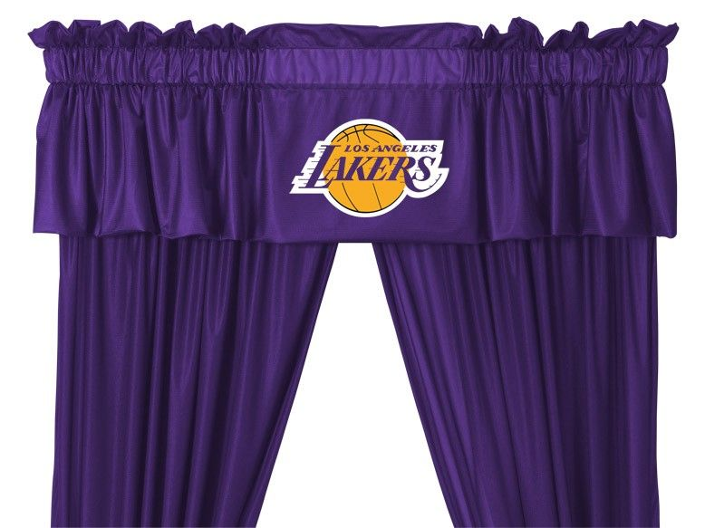 Los Angeles La Lakers Nba Window Valance 63in Or 84in Drapes