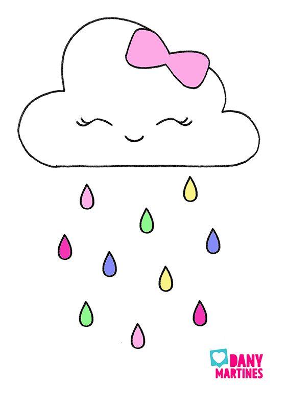 Molde Nuvem Capa De Caderno Coisas Simples Para Desenhar