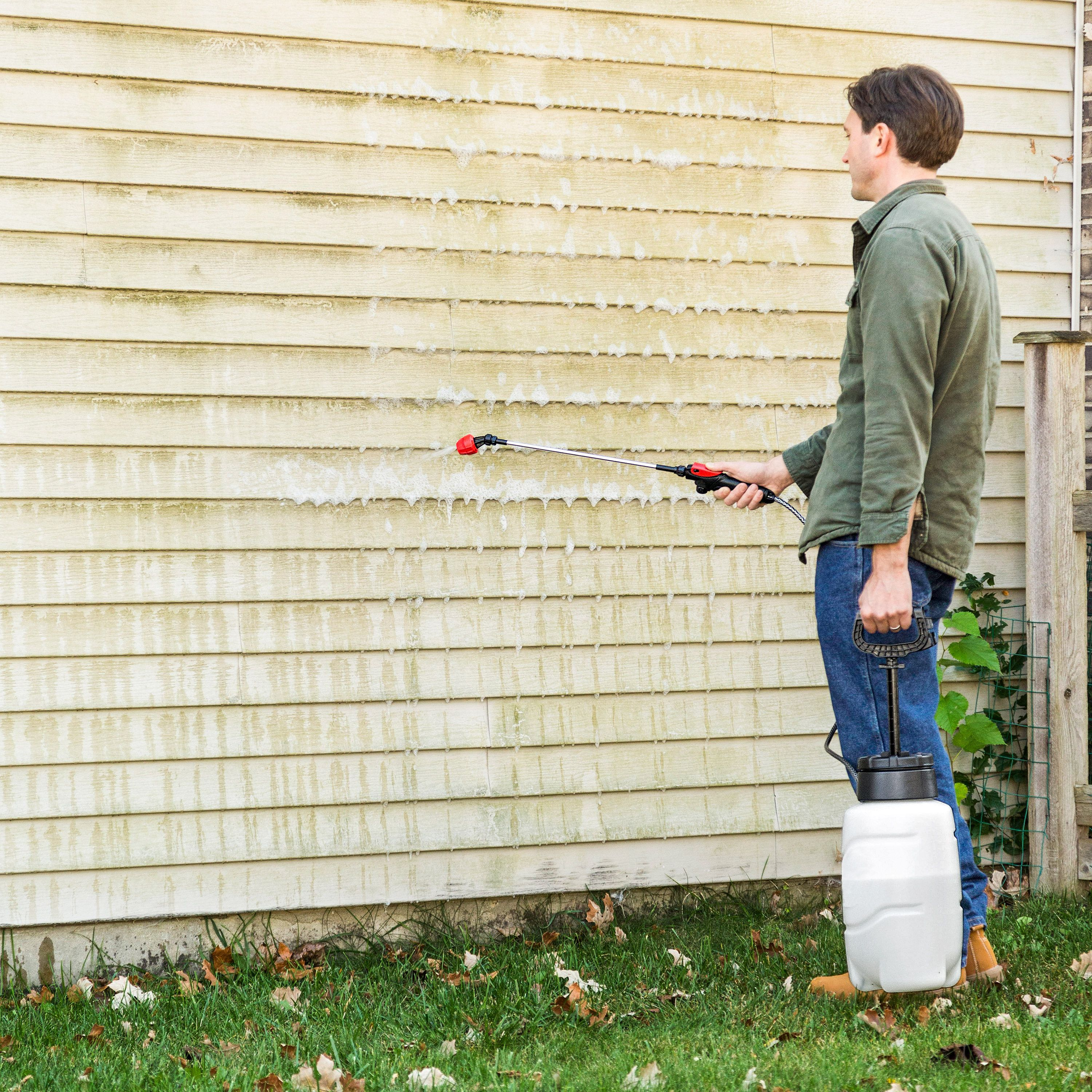 Banish Mildew From Siding House Cleaning Tips Cleaning Hacks Cleaning Painted Walls