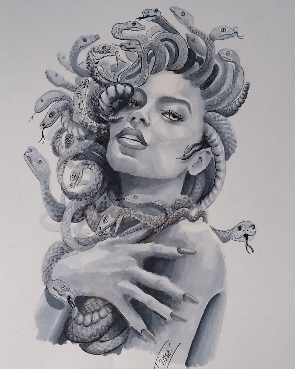 Drawing Exercises For Tattoo Artists : drawing, exercises, tattoo, artists, Medusa,, Copic, Markers, Medusa, Oefeningen, Dinie, Zeeuw, Diniez, Fantasy, Artists…, Tattoo, Design,, Tattoo,, Tattoos