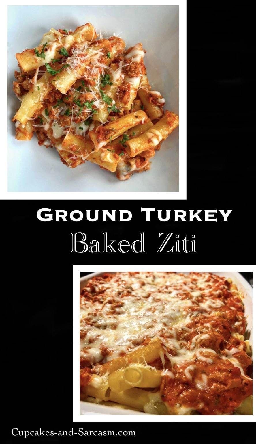 Photo of Ground Turkey Baked Ziti – Cupcakes and Sarcasm