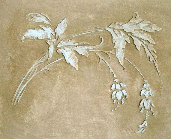 Plâtre pochoir pochoir de Anastasia frise par ElegantStencils