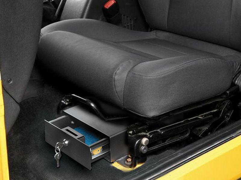 Bestop Locking Under Seat Storage Box In Textured Black For 97 06