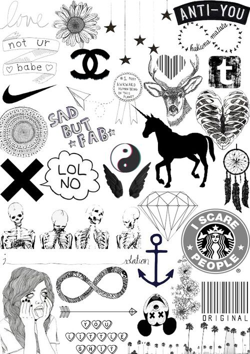 Imagen De Black Tumblr Collage And Black And White Black Stickers Tumblr Stickers Aesthetic Stickers