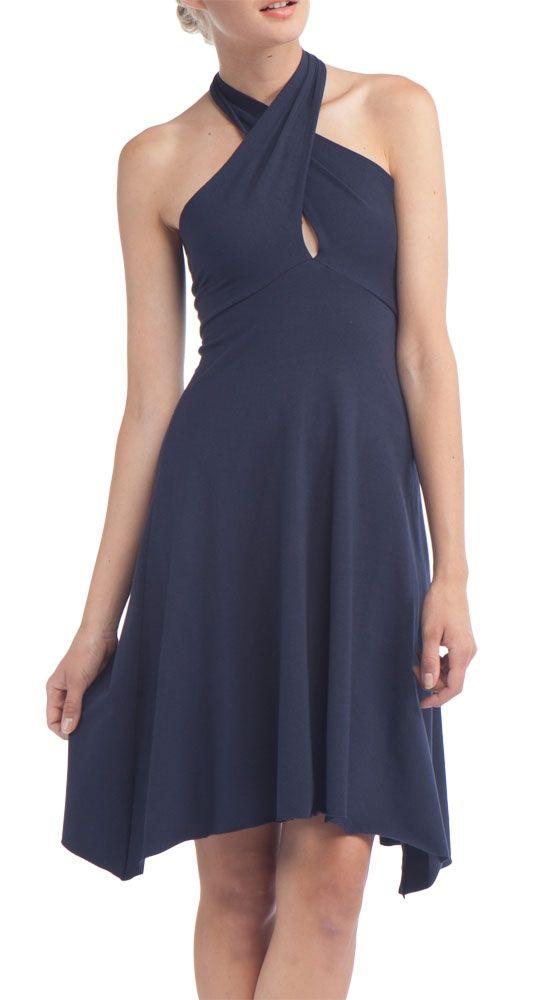 Cotton Spandex Jersey Bandeau Dress, Navy by American Apparel ...