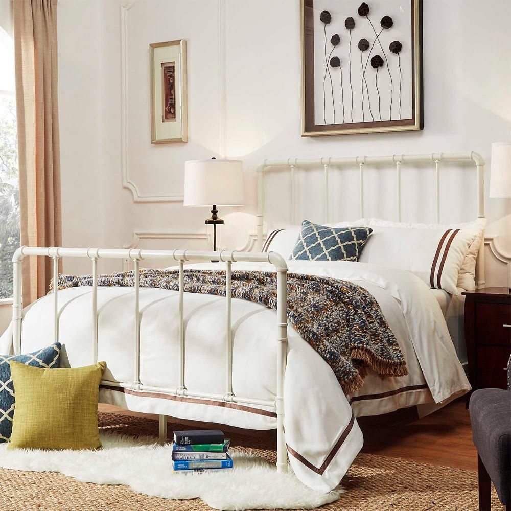 Byer White King Bed Frame | White queen bed frame and Products
