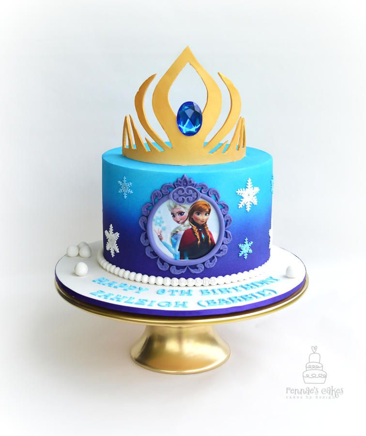 Frozen Forever Cake by Rennaes Cakescakes by design cake