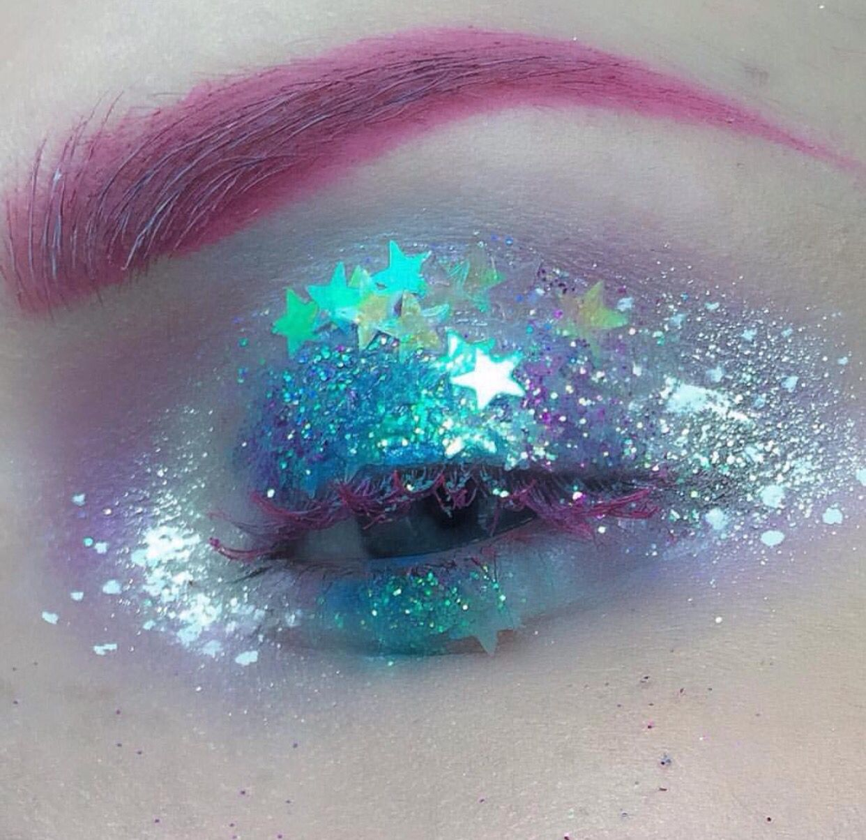 Galaxy eyes. Beautiful and ouch at the same time.