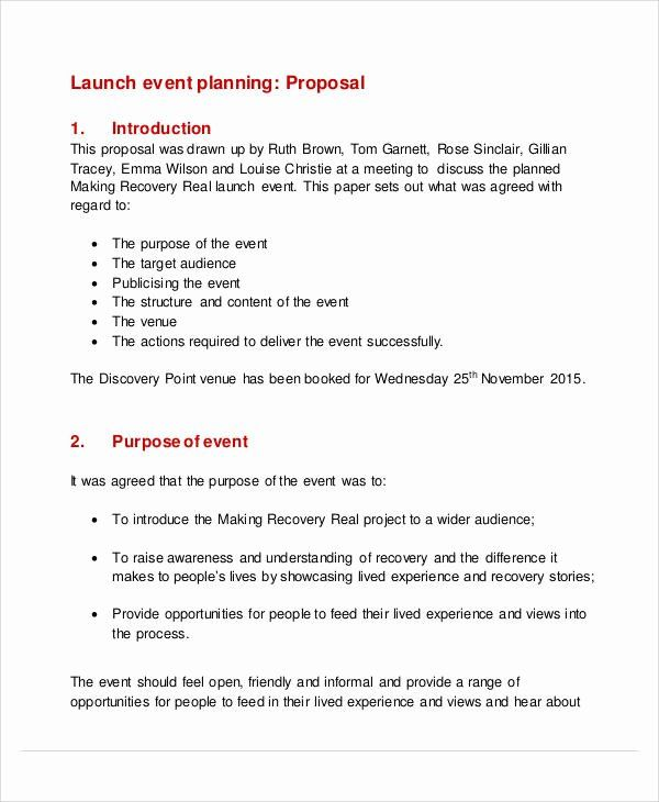 Wedding Planner Proposal Template Lovely 58 Event Proposal