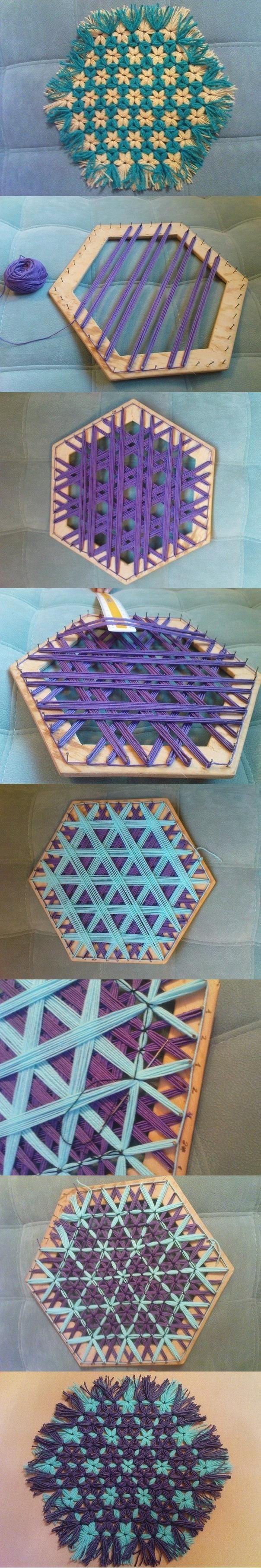 DIY Beautiful Hexagonal Coaster | handwerk | Pinterest | Weben ...