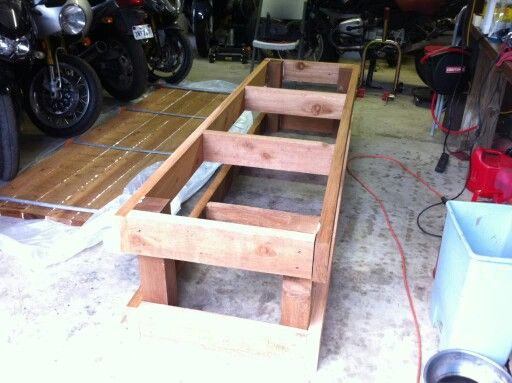 Homemade M C Lift Motorcycle Garage Bench Plans Diy