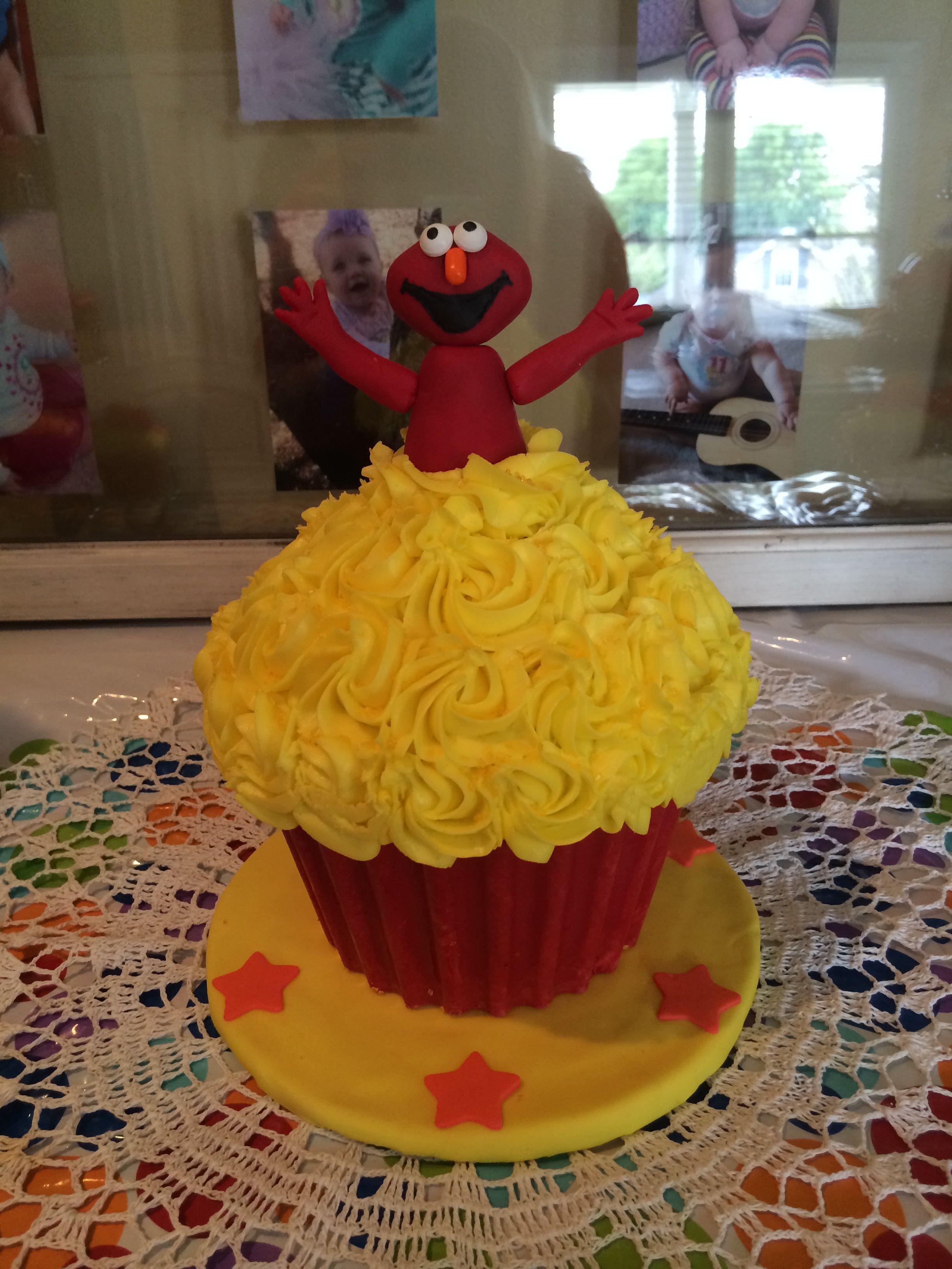 Elmo giant cupcake smash cake My Creations Pinterest Cupcake