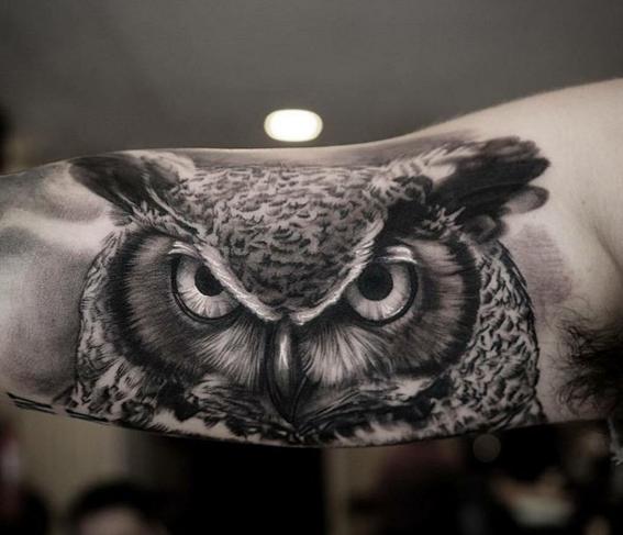 Mirada Buho Tatuaje Buho Tatuajes De Buos Diseno De Tatuaje De
