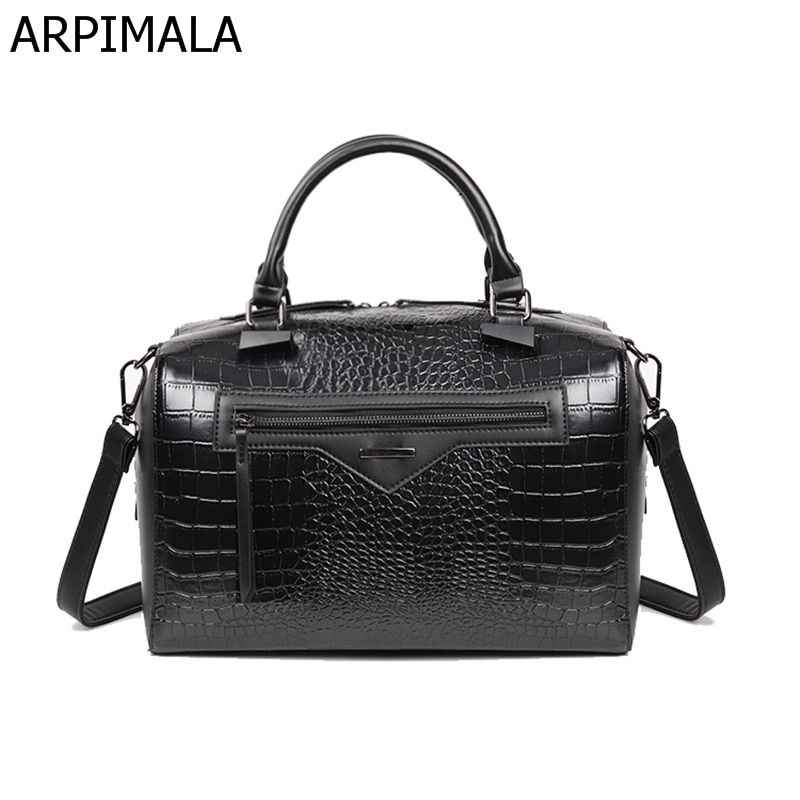 ARPIMALA 2018 Big Luxury Leather Handbags Women Bag Women Messenger Bag  Snake Handbag Famous Brand Designer f1ae38333b6f6