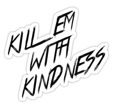 Selena Gomez Kill Em With Kindness Sticker By Sswain Selena Gomez Selena Cute Laptop Stickers