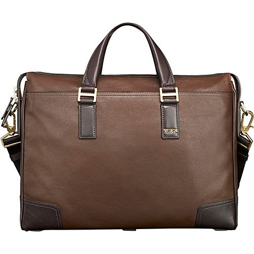 4944340860 Tumi Becon Hill Irving Slim Leather Brief Brown - Tumi Non-Wheeled Business  Cases  Briefcases