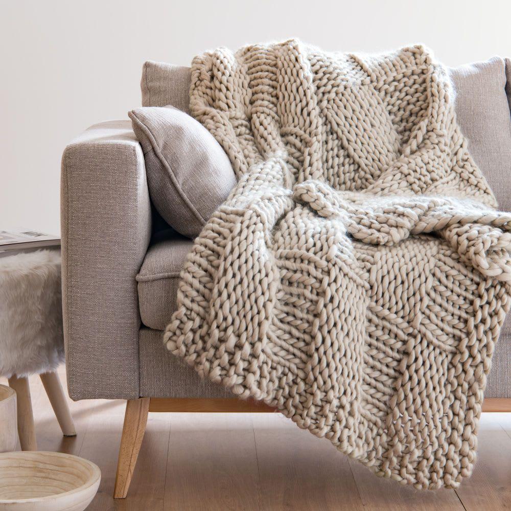 Deko Textilien Knitted Cushions Sun Lounger Cushions Soft