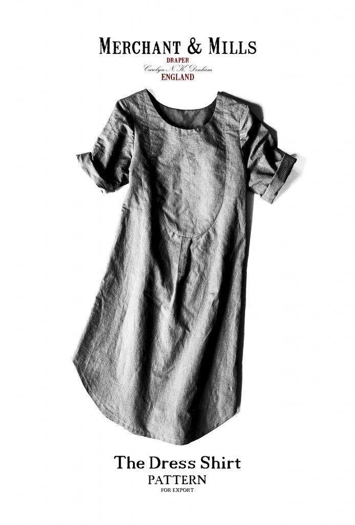 Dress Shirt Pattern multi-size | Merchant & Mills | patterns ...