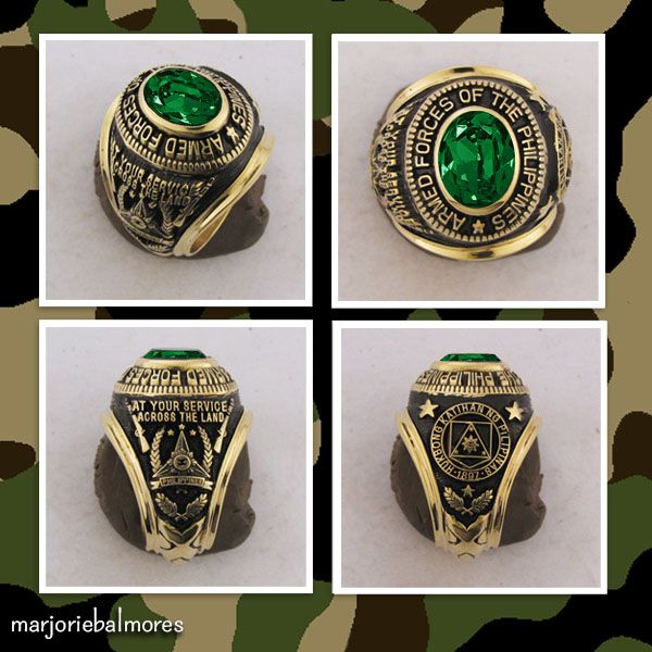 Armed Forces Of The Philippines Military Rings Can Be Made In Brass Gold Stainless Alloy Pure Sterling Silver And In R Pure Products Military Men Style Tips