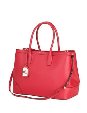 Leather · Lauren Ralph Lauren Fairfield City Pebbled Leather Shopper Tote 2a8d9c1f6d