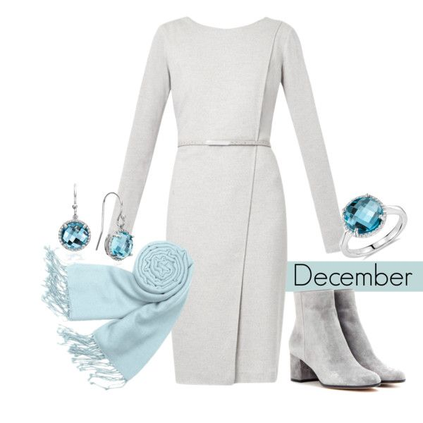 December Birthstone by Blue Nile on Polyvore featuring MaxMara, Gianvito Rossi, Blue Nile, Forzieri