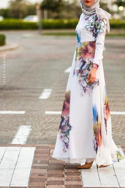 Silk Flower Dress Dress In Style Pinterest Hijab Fashion