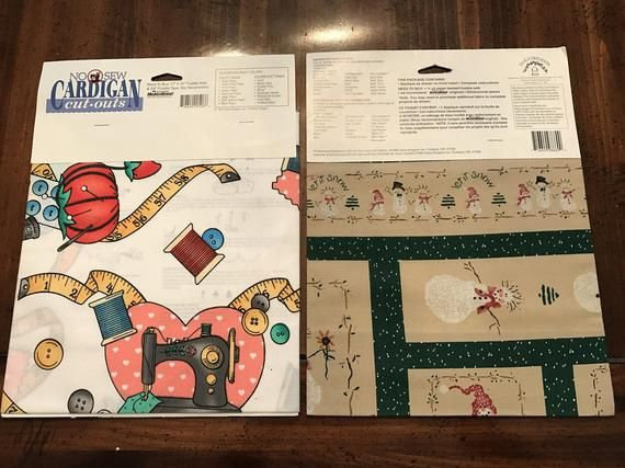 Two Daisy Kingdom No Sew Cut - Outs, Sew Easy and Frosty Friends, Unopened #nosewshirts