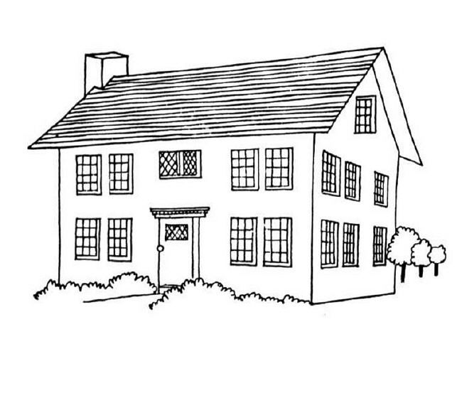Coloring pages - Houses | Printables | Pinterest | House and Cuttings