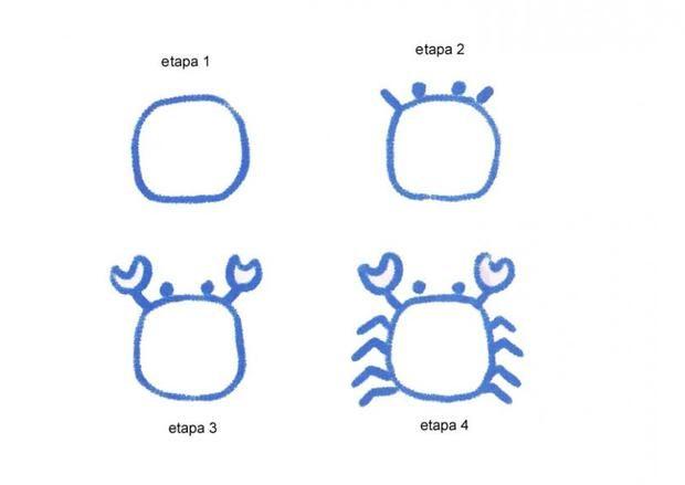 Resultado de imagen de dibujo cangrejo infantil | ARTS | Drawings ...