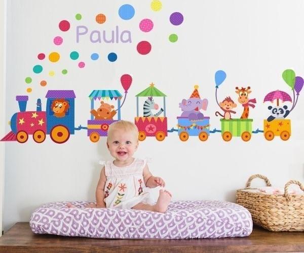 Vinilos infantiles para el cuarto del bebé | Circo, Buscar con ...