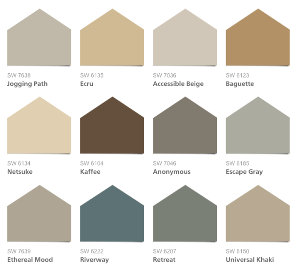 2016 Hgtv Smart Home Paint Colors Sherwin Williams Neutral Nuance Collection