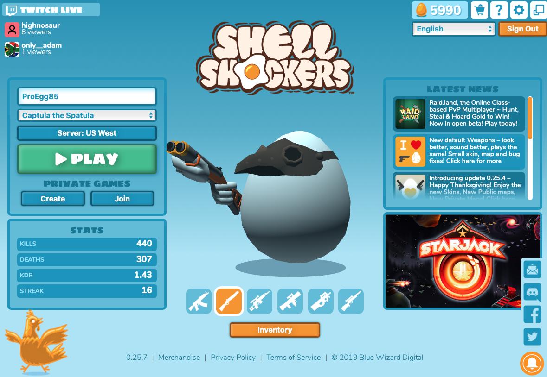 shellshockers.io Battlefield games, Shells, Games