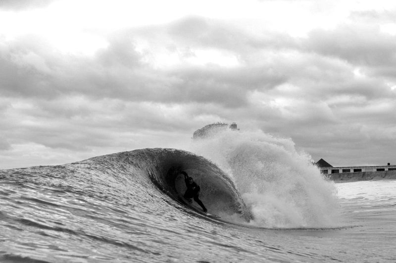 Mike gleason, all covered up in NJ. Photo: Stafford/SPL