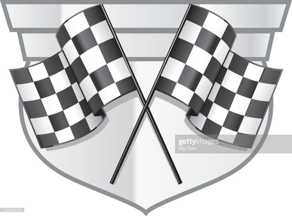 Checkered Flag Badge Free Vector Art Vector Free Stock Illustration