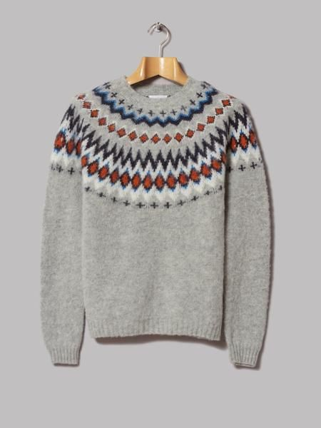 Norse Projects Birnir Fairisle Knit (Kit white) | let it rain ...